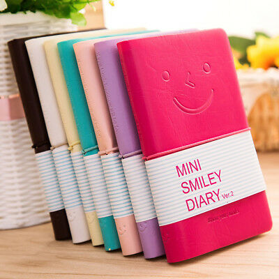 Kawaii Notebook Pocket Diary Memo Notepad Journal Planner Note Pad PU Leather