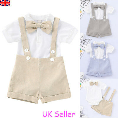 Newborn Baby Boy Girl Outfits Clothes Romper Tops Jumpsuit Shorts Pants 2PCS Set
