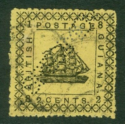 SG 165c British Guiana 1862. 2c yellow (small '2'). Fine used CAT £100