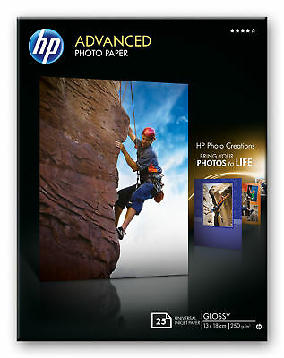 HP Advanced Glossy 5x7 Photo Paper - 25 sheets