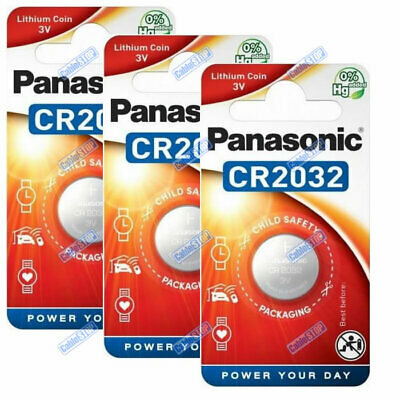 PANASONIC CR2032 3V Lithium Battery EXPIRY 2028 Coin Cell DL2032 for Car Key Fob
