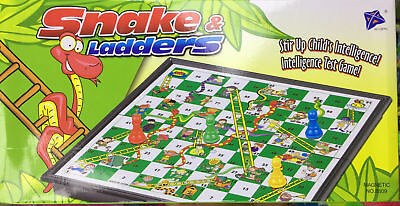 Magnetic Solid Plastic Board Game Snake And Ladders / Ludo Foldable Sets