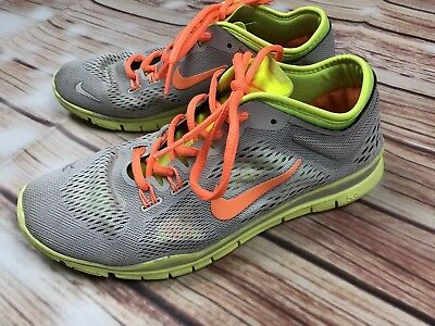 bf70225aab6 NIKE Free 5.0 TR Fit 4 Grey Volt Orange Training Running Womens Shoes Size  UK 5