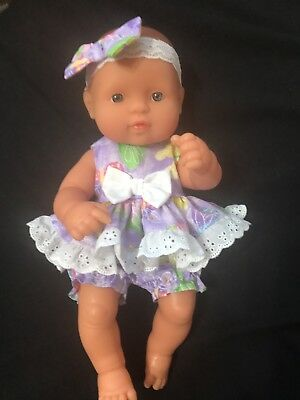 Dolls clothes made to fit 32cm Miniland  Dolls (size Small). 2 Piece Set