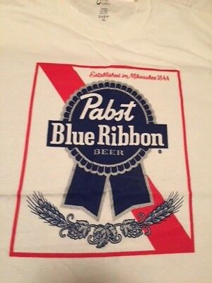 Pabst Blue Ribbon Beer Milwaukee Draft Retro Vintage Look Unisex T Shirt Large