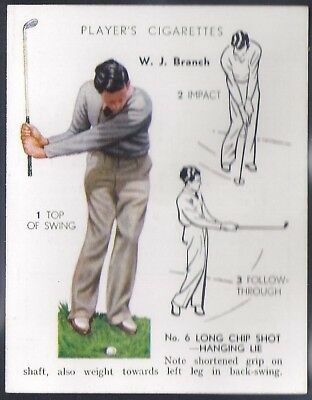 Players-Golf (Uk Issue L25)-#05- Long Chip Shot - W. J. Branch