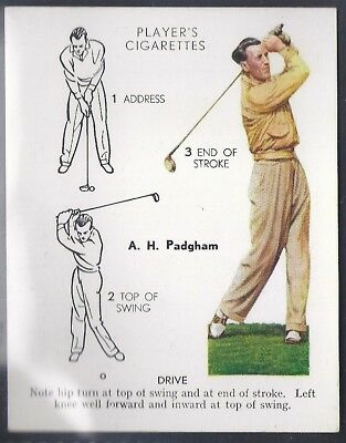 Players-Golf (Uk Issue L25)-#21- Drive - A. H. Padgham