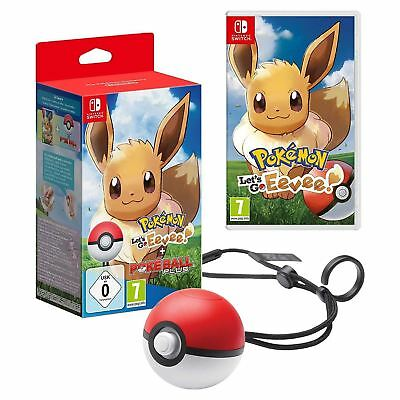 Pokemon Let's Go Eevee + Poke Ball Plus Nintendo Switch New Sealed Official