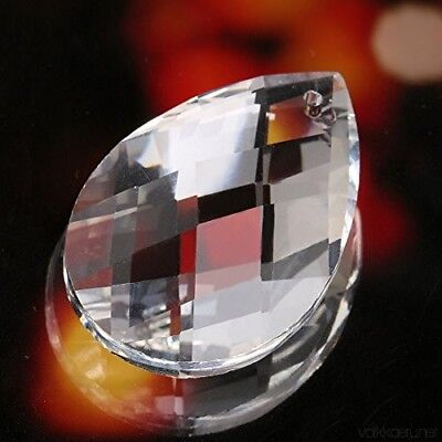 5x Crystal Glass Ball Prisms Drops Home Decor Chandelier Lamp Parts Pendant 50MM