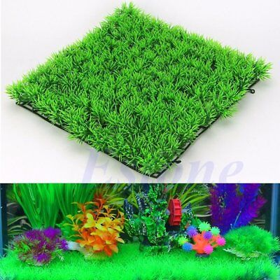 Water Aquatic Green Grass Plant Lawn Aquarium Fish Tank Landscape Decor 25*25cm