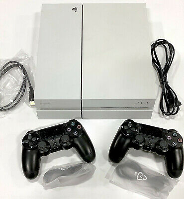 Sony PlayStation 4 PS4 500GB Glacier White Gaming System Console Limited Bundle