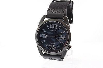Men's Citizen AW0018-00F Eco-Drive Stainless Blue & Black Camouflage Dial Watch
