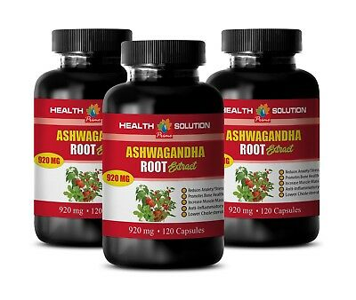 indian ginsend powder - ASHWAGANDHA ROOT 920mg - reduce blood sugar levels 3B