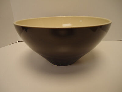Vintage Large Pfaltzgraff Mixing Bowl Ringed Pottery Beehive Brown/Cream RARE