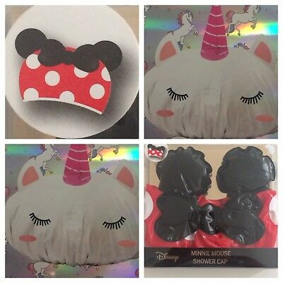 Primark Unicorn And Minnie Mouse Shower Caps New Ideal Christmas Gifts