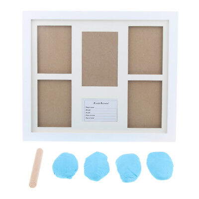 Photo Frame Kit Newborn Baby Handprint Footprint with Clean Touch Ink Pad