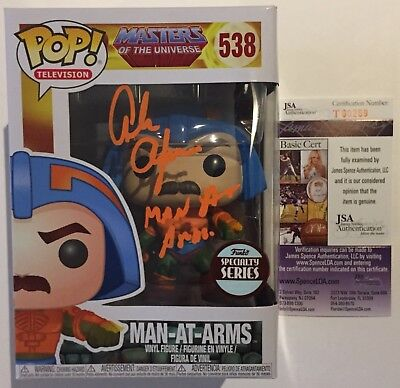 ALAN OPPENHEIMER Hand-Signed MAN-AT-ARMS MASTERS OF THE UNIVERSE POP Vinyl JSA
