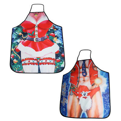 2pcs Novelty BBQ Aprons Funny Saucy Cooking Kitchen Apron for Men / Women