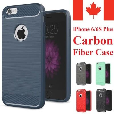 For iPhone 6 Plus & iPhone 6S Plus - Shockproof Soft TPU Carbon Fiber Case Cover