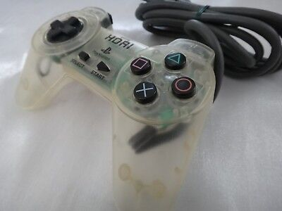PlayStation 1 HORI Clear Controller Pad SLPH-00028 PS1 Japan