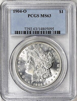 1904-O Morgan Silver Dollar - Pcgs Ms63 - A Keeper, Great Luster,  Superb Coin