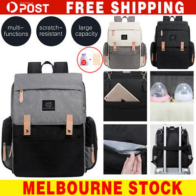 2019 Luxury GENUINE LAND Multifunctional Baby Diaper Backpack Changing Bag AU