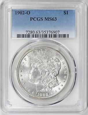 1902-O Morgan Silver Dollar - Pcgs Ms63 - A Keeper, Great Luster,  Superb Coin