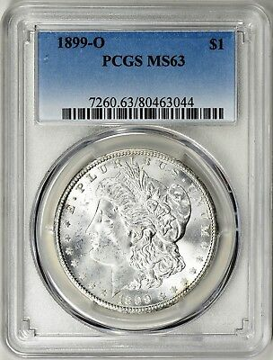 1899-O Morgan Silver Dollar - Pcgs Ms63 - A Keeper, Great Luster,  Superb Coin