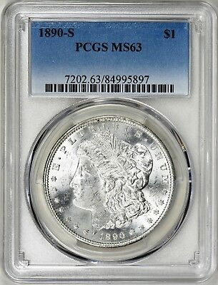1890-S  Morgan Silver Dollar - Pcgs Ms63 - Keeper, Great Luster, Superb Coin