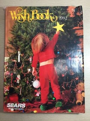 Sears Wishbook Cataloge 1992 Christmas Toys Magazine Shopping Ordering Reference