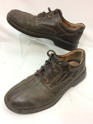 48d332beb1e7 Mens ECCO Brown Leather Lace Up Casual Shoes 45 EU 11 - 11.5 US Nice