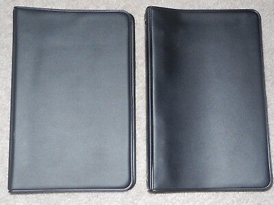 "(2) National Brand 6 Ring Binder Blk Plastic Soft Cover Notebook 7""x.5""x1"", 100"