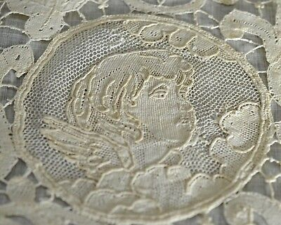 Putti - Dainty Antique Lace Pillow Sham Uu41
