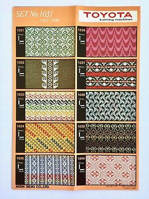 Toyota PRE-PUNCHED CARD SET 1031  Fair Isle **NEW** 10 Cards NO. 1031-1040