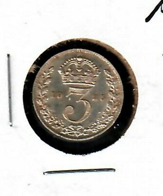 Great Britain Three Pence 1925 Choice About Uncirculated