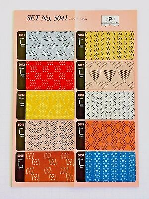 Toyota PUNCHCARDS - CARD SET 5041 Lace **NEW** 10 Cards  NO. 5041-5050