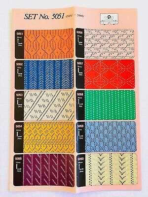 Toyota PRE-PUNCHED CARD SET 5051 Lace **NEW** 10 Cards  NO. 5051-5060