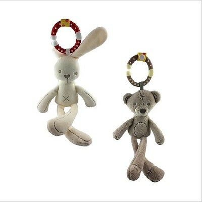 New Sale Baby Toy Soft Plush Doll Baby Rattle Ring Bell Crib Bed Hanging Doll
