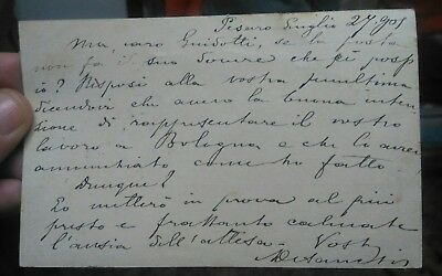 1901 Autograph Of The Large Actor Brindisino Alfredo Of Sanctis