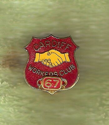 #D208.  1967  Cardiff  Workers   Club   Lapel Badge #1780