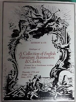 Gebundener Katalog SOTHEBY 1974 FURNITURE BAROMETERS & CLOCKS