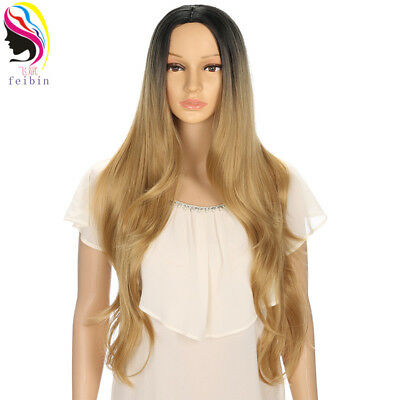 24'' Synthetic Curly Wavy & Straight Ombre Wigs For Black Women for a Full Heads