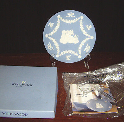 "2001 Wedgwood Jasperware 7"" Annual Plate w/ Box"