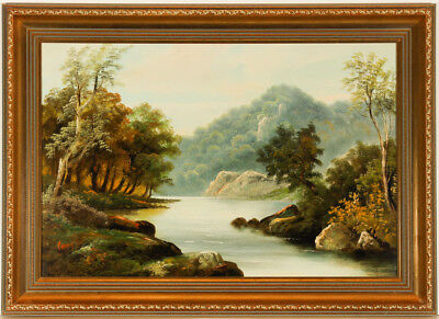 Conway Ruyd - Signed and Gilt Framed Early 20th Century Oil, River Landscape