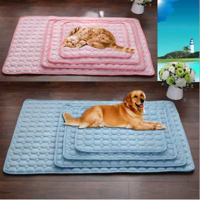 Pet Dog Cat Cooling Mat Cooler Gel Mat Pad Blue Large Non Toxic Puppy Summer AU