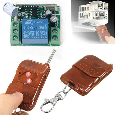 433MHZ 12v 10A Relay 1CH Wireless RF Remote Control Switch Transmitter+ Receiver