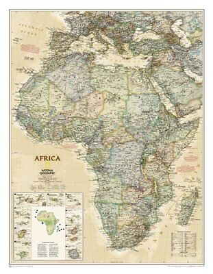Africa Classic, Enlarged &, Laminated Wall Maps Continents 9781597752596