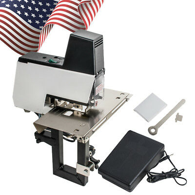 US Auto Rapid Stapler Binder Electric Flat Saddle 110V 2-50sheet Foot Pedal CE