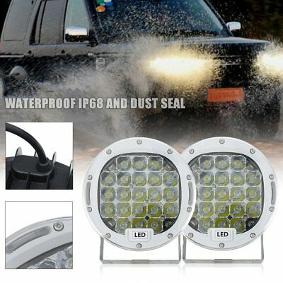 7inch 98000W Cree LED Driving Light Spot Work White Round Offroad 4x4 ATV SUV