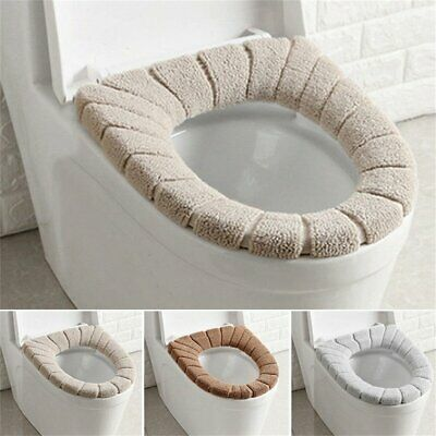 Bathroom Toilet Seat Closestool Washable Soft Warmer Mat Cover Pad Cushion CR